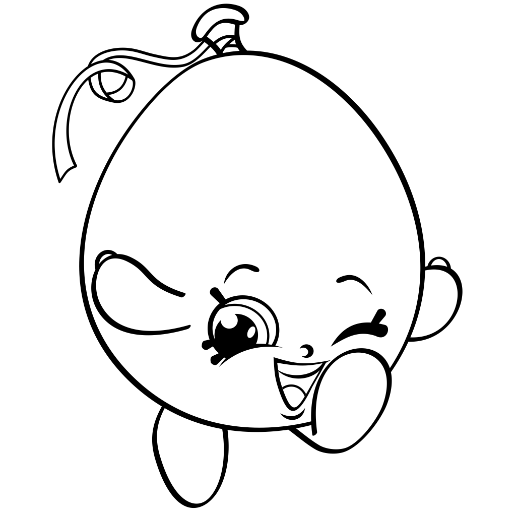 Shopkins Balloon Coloring Page
