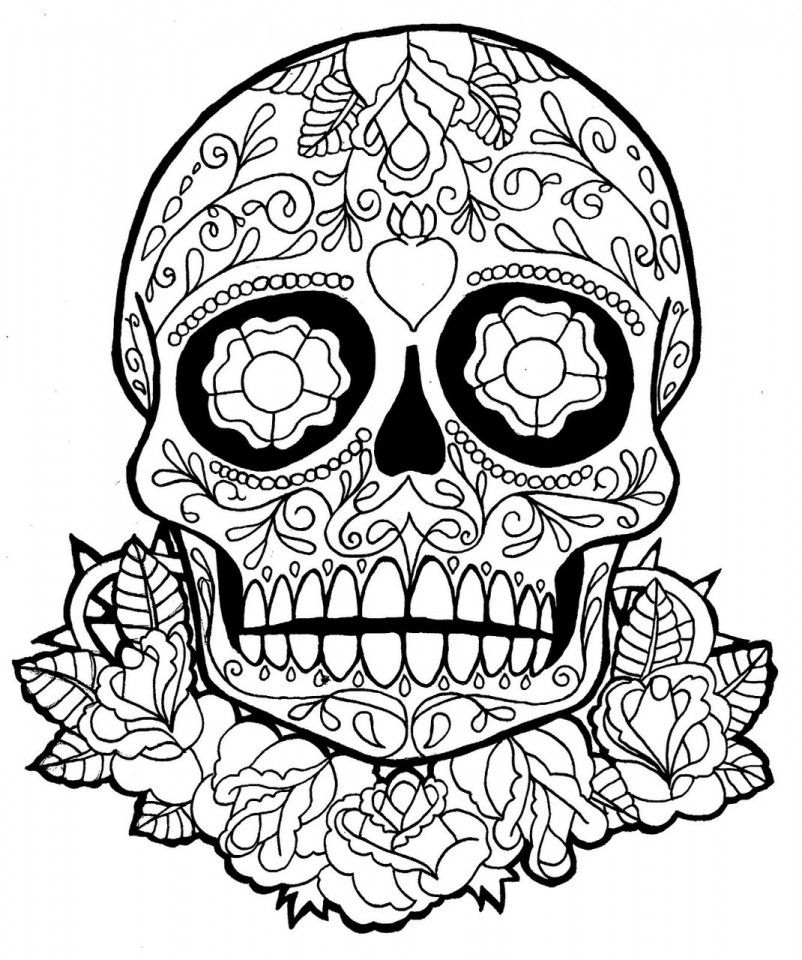 Skull Coloring for Adults