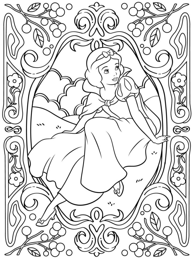 Snow White Coloring Page for Adults