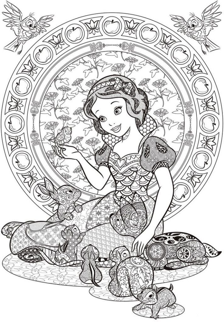 Snow White Disney Coloring Pages for Adults