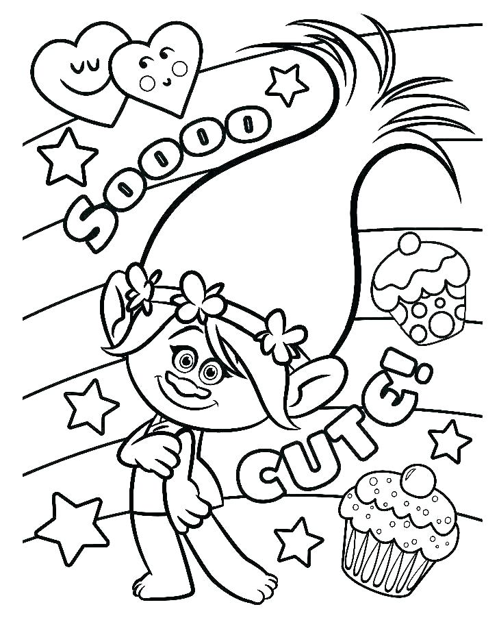So Cute Poppy Coloring Pages