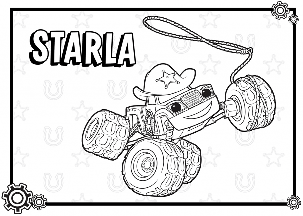 Starla Blaze and the Monster Machines Coloring Pages