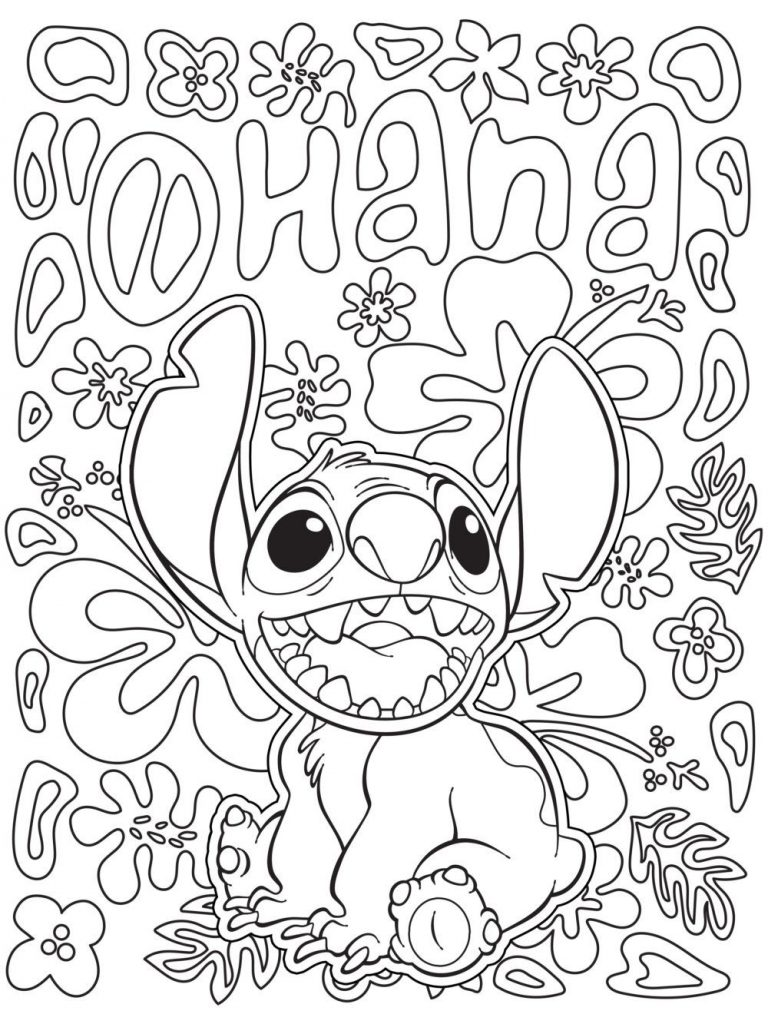 Stitch Disney Coloring Pages for Adults