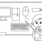 Teaching Computers Coloring Pages
