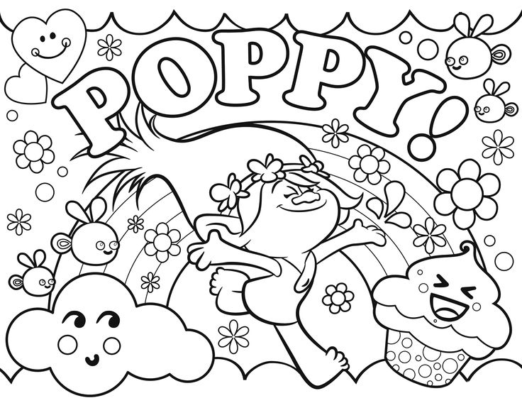 Troll - Poppy Coloring Pages