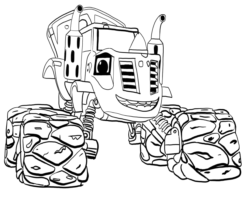 Zeg Blaze and the Monster Machines Coloring Pages