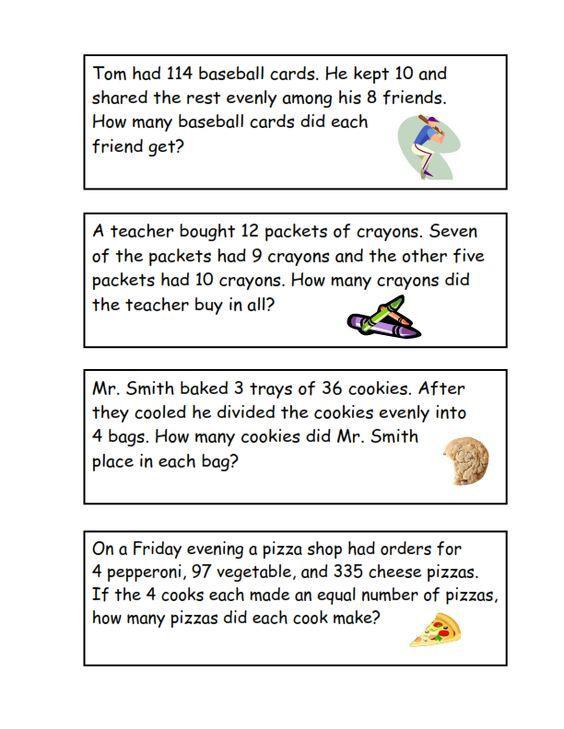 3rd Grade Math Word Problem Sheet