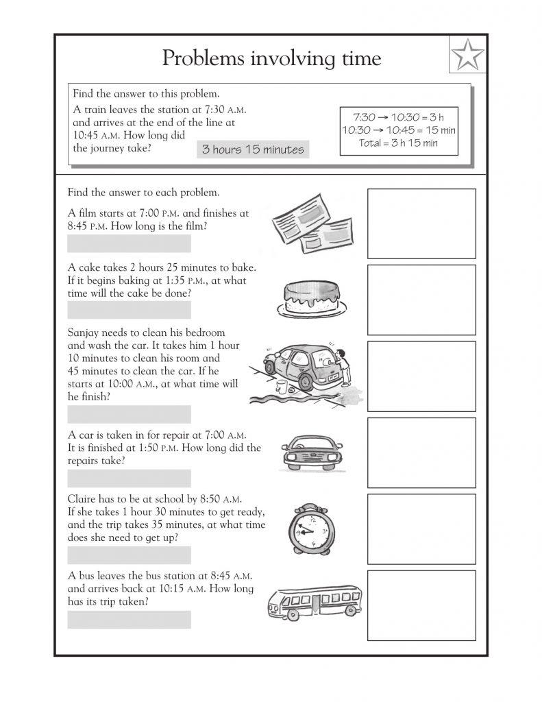 3rd Grade Math Word Problems Time