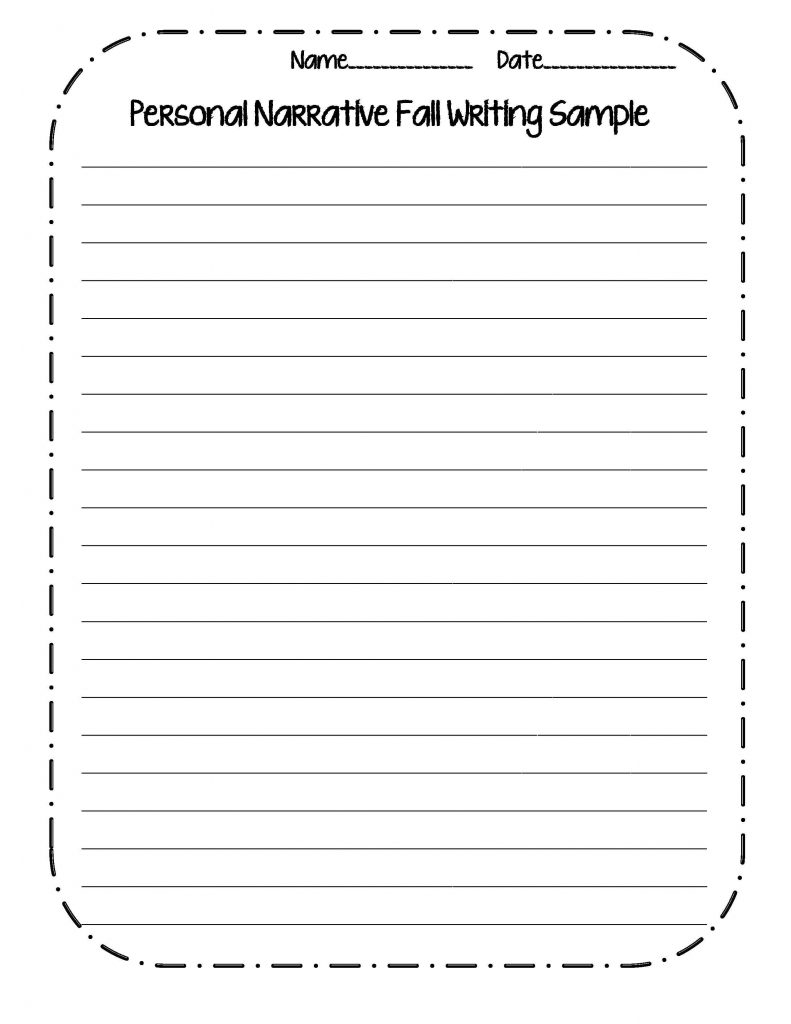 3rd Grade Narrative Writing Worksheet