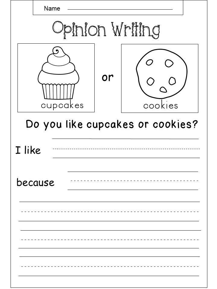 3rd Grade Opinion Writing Worksheet