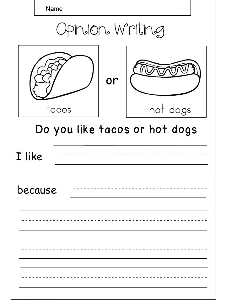 3rd Grade Opinion Writing Worksheets