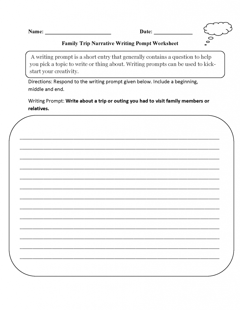 3rd Grade Printable Prompt Worksheet
