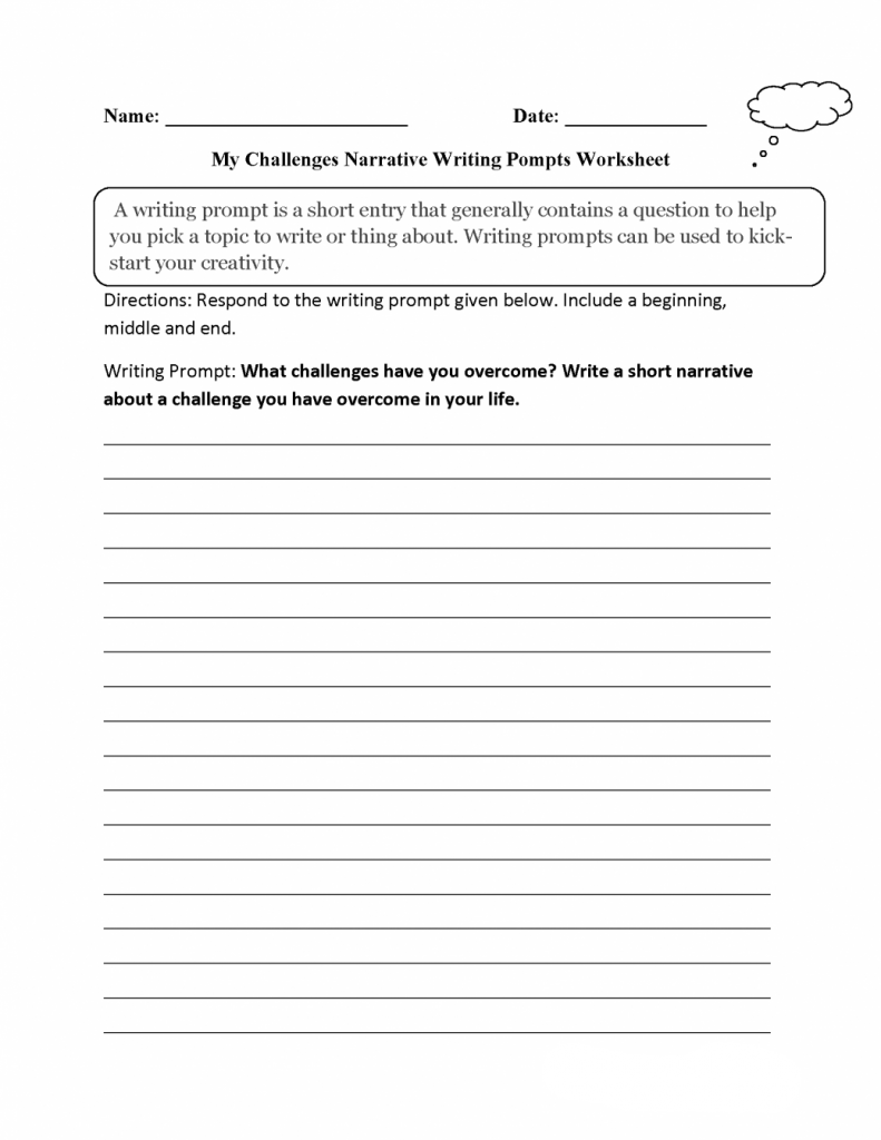 3rd Grade Writing Prompts Worksheet