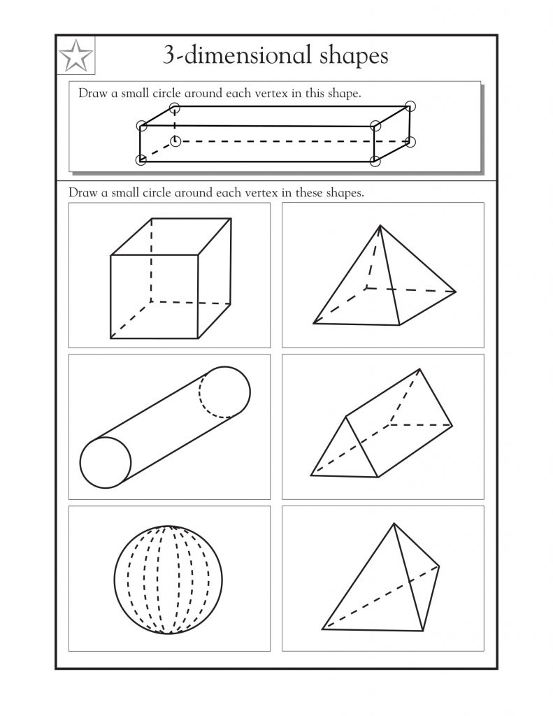 4th Grade Math 3D Shapes Worksheets