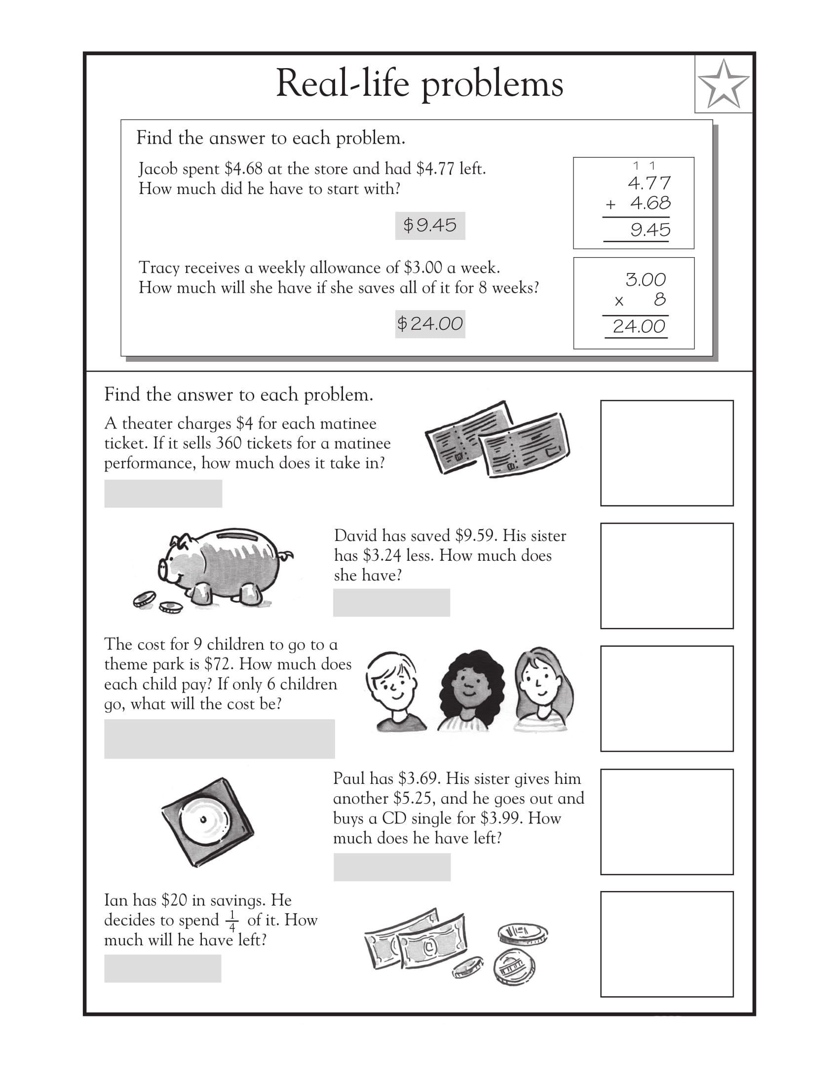 4th Grade Math Word Problems Best Coloring Pages For Kids
