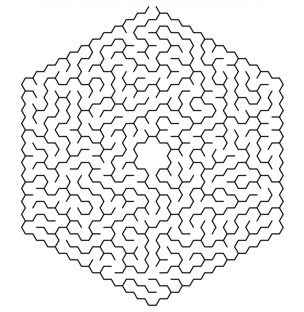 Adult Printable Maze Game
