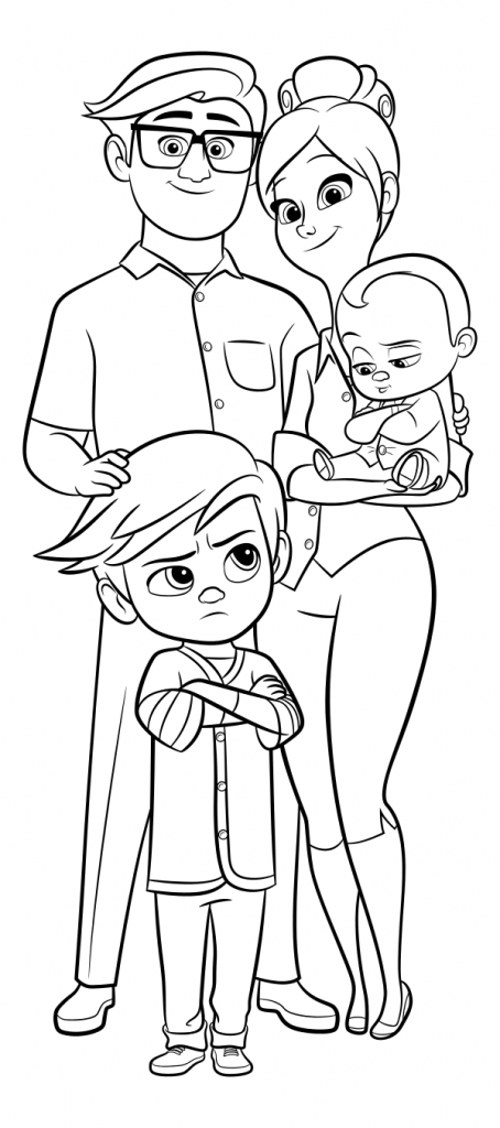 Boss Baby Characters Coloring Pages