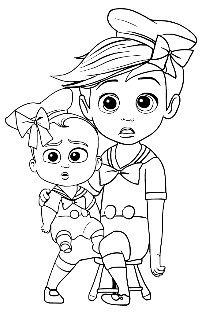 Boss Baby Printable Coloring Page Free