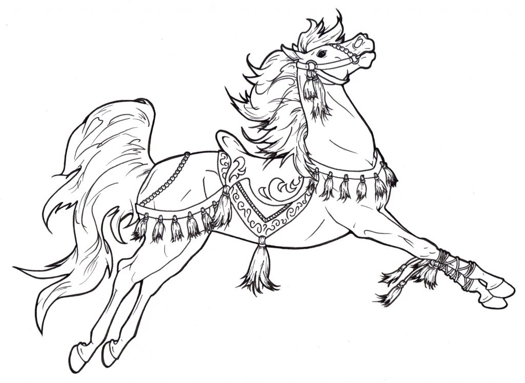 Carousel Horse Coloring Pages for Adults