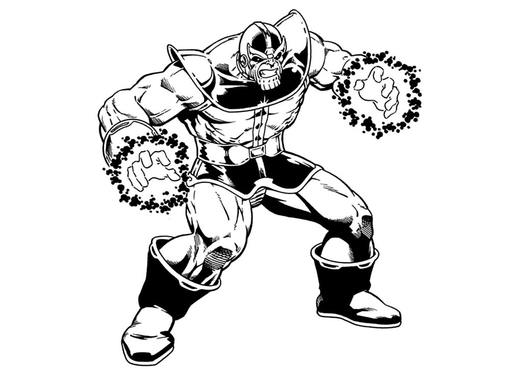 Comic Book Coloring Page Thanos