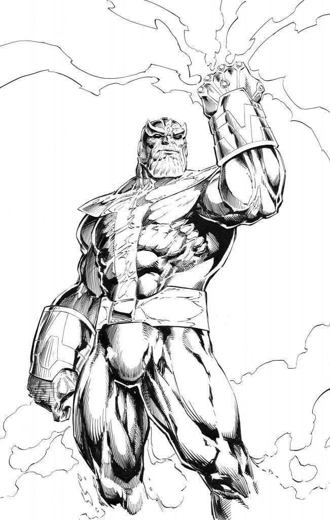 Cool Thanos Coloring Pages