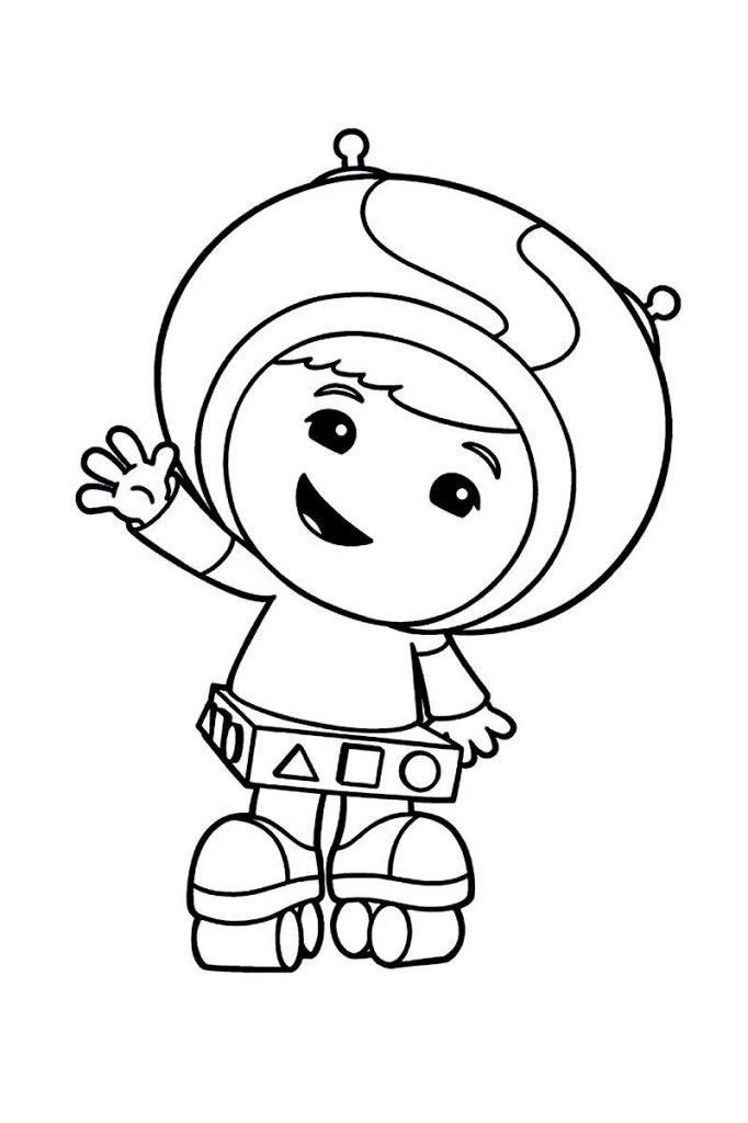 Cute Team Umizoomi Coloring Pages