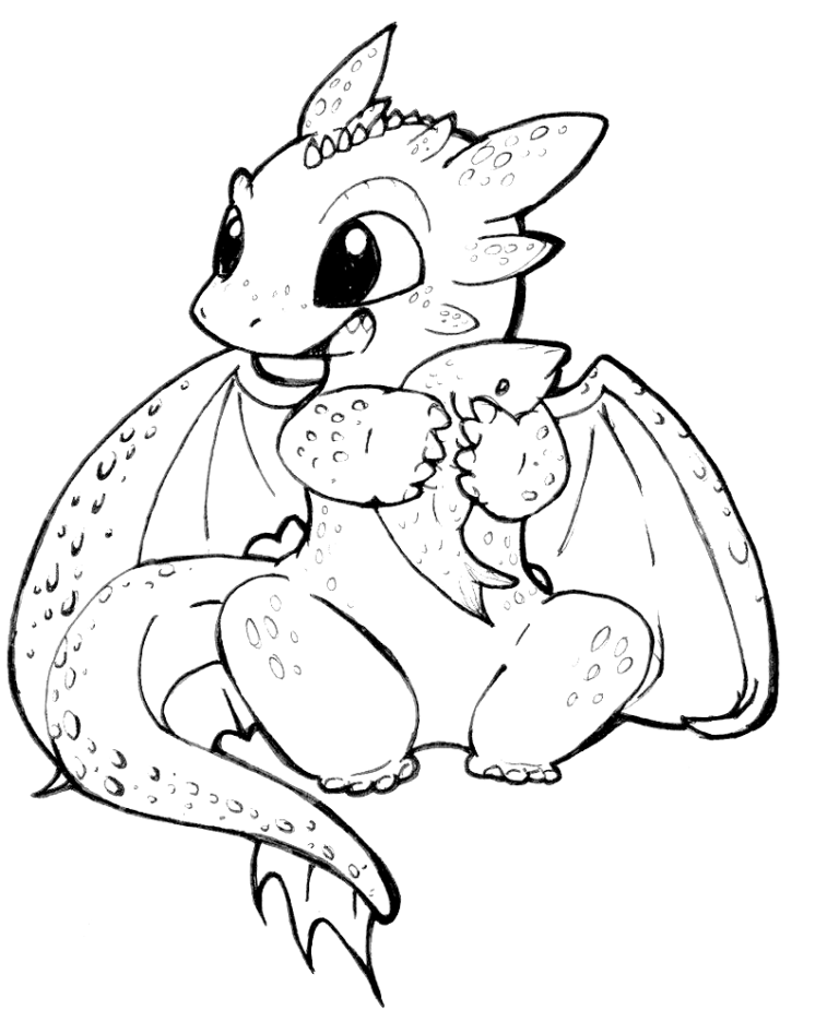 Cute Toothless Coloring Pages