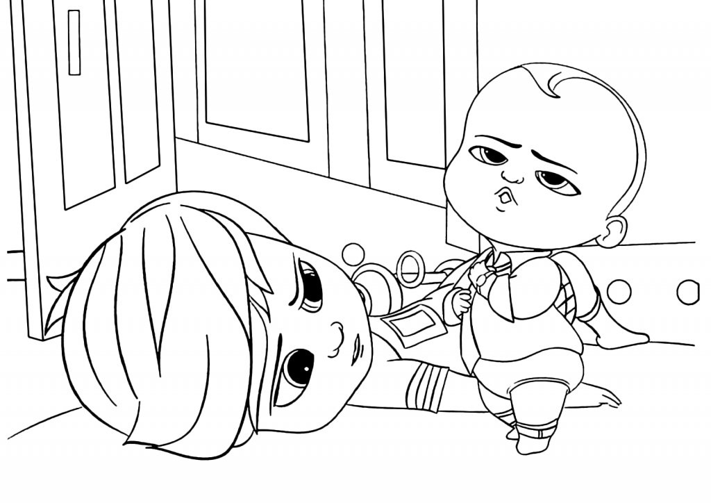 Dreamworks Boss Baby Coloring Pages