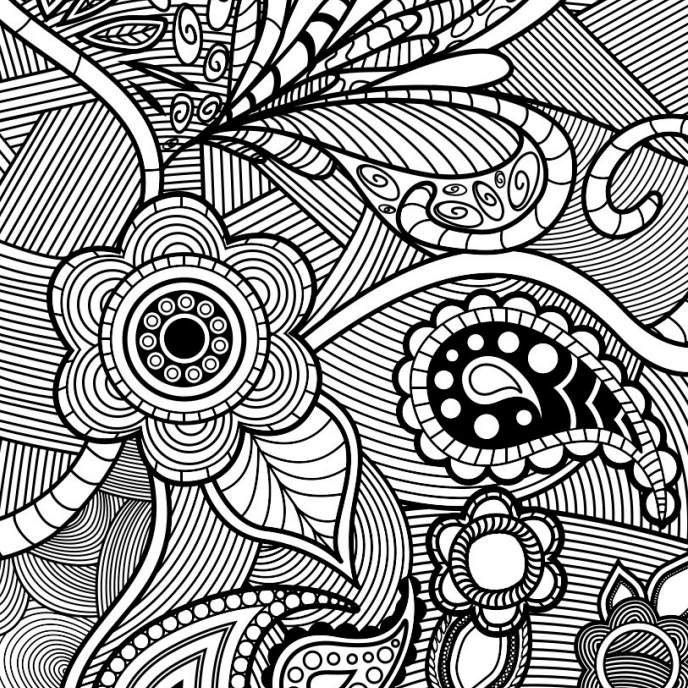 Floral Pattern Coloring Pages For Adults
