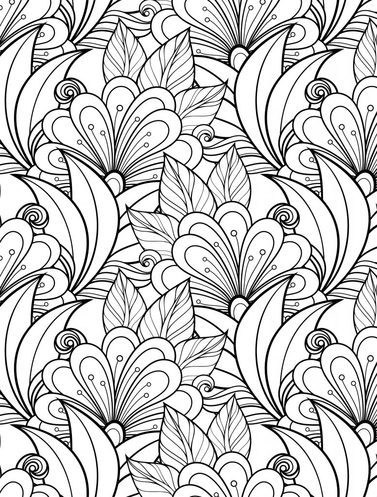 Floral Patterns Coloring Pages For Adults