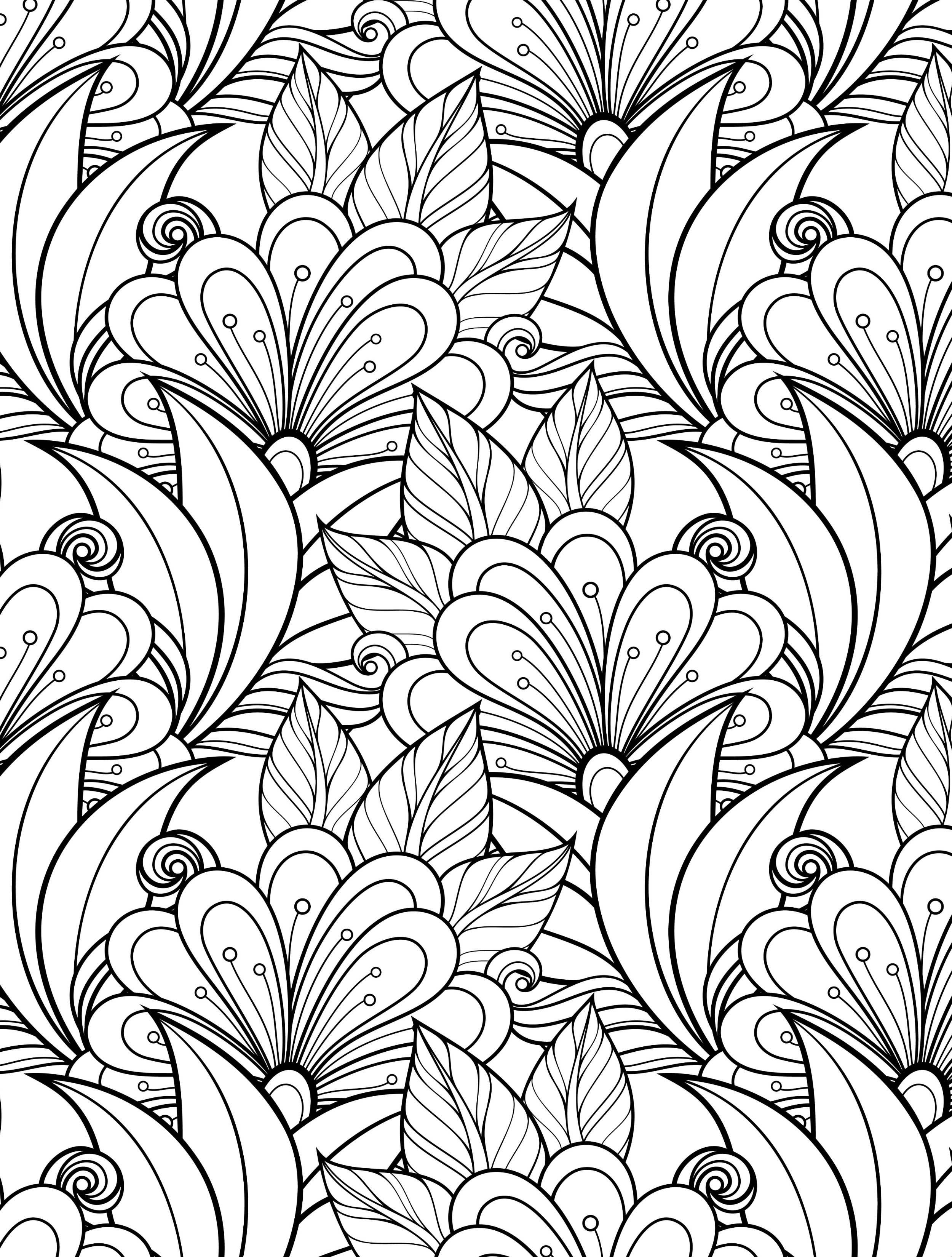 Floral Coloring Pages for Adults - Best Coloring Pages For ...
