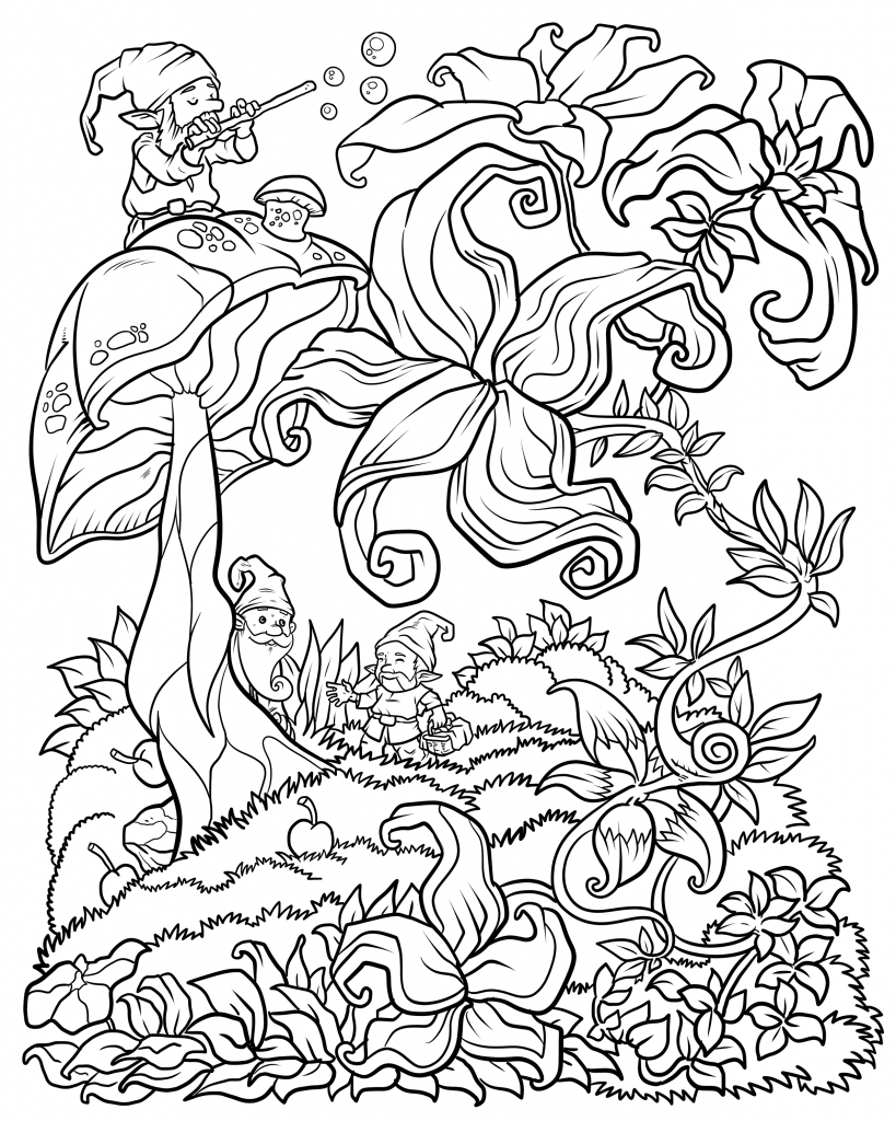 Forest Floral Coloring Pages For Adults