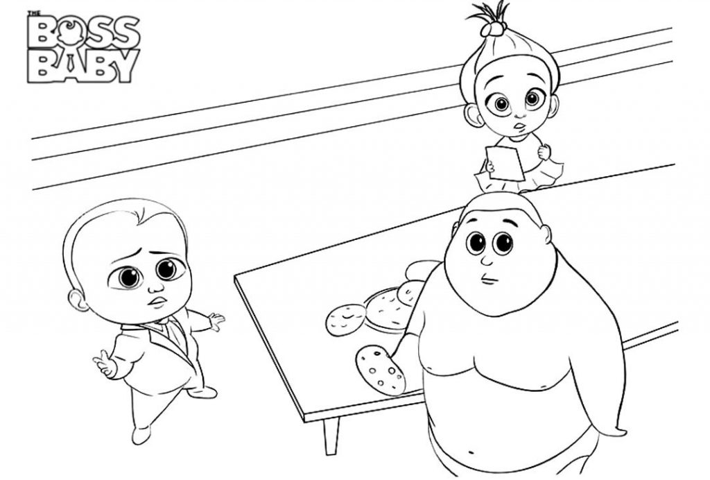 Free Boss Baby Coloring Pages