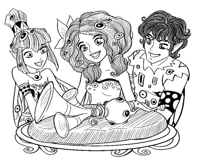 Free Mia and Me Coloring Pages
