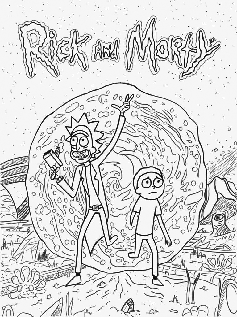 Rick and Morty Coloring Pages