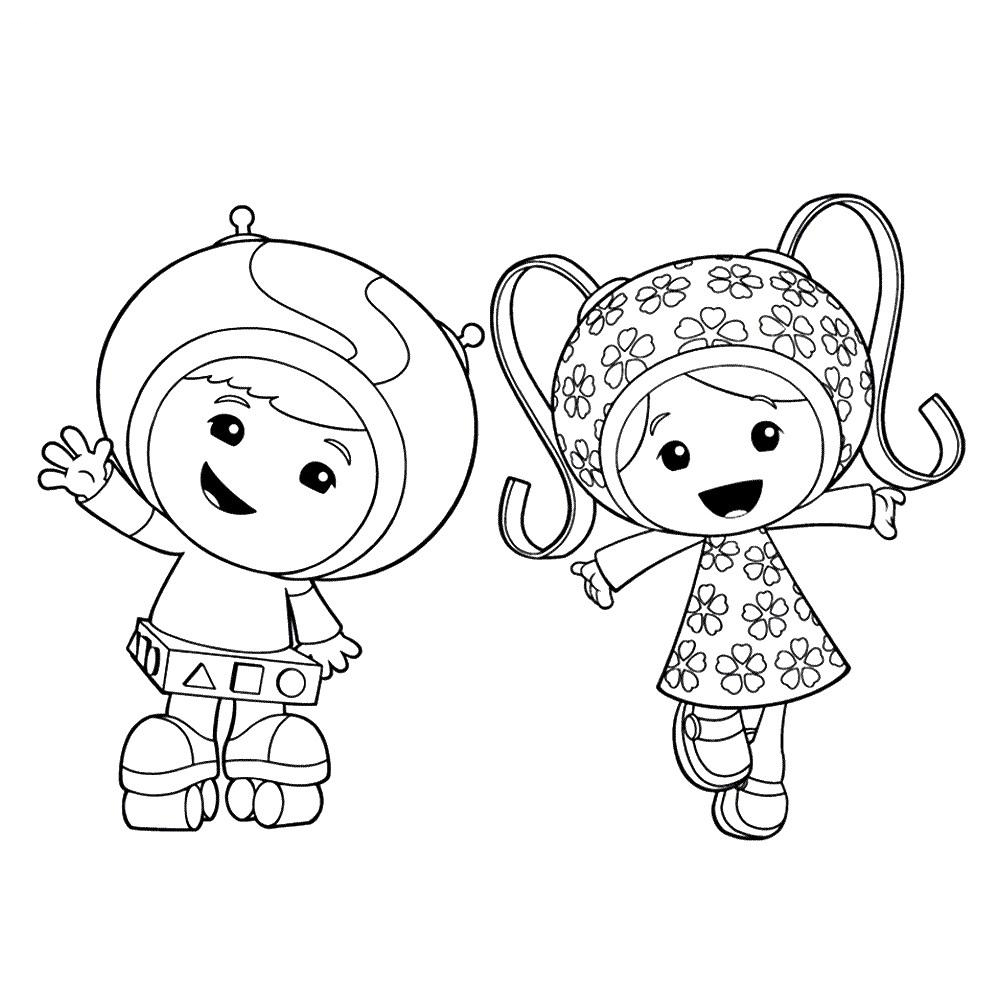 Geo and Milli Team Umizoomi Coloring Pages