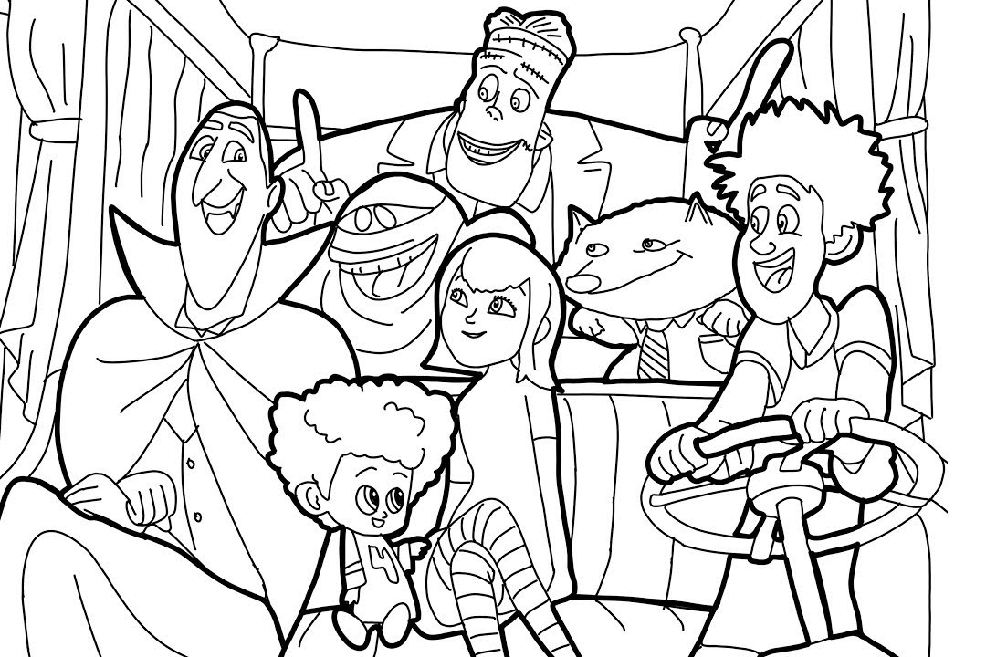 hotel transylvania coloring pages free | Hotel Transylvania Coloring Pages - Best Coloring Pages ...