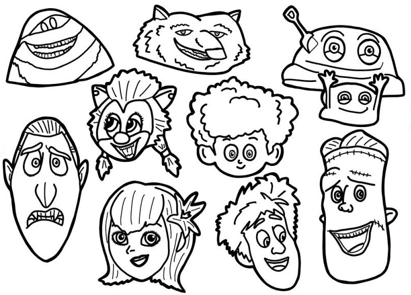 Hotel Transylvania Coloring Page Characters