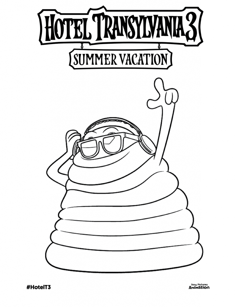 Hotel Transylvania Coloring Pages Blob