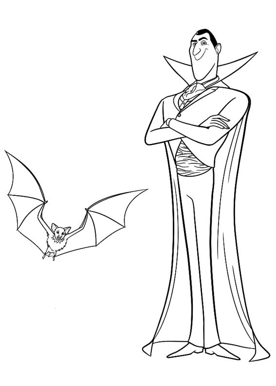 Hotel Transylvania Coloring Pages Drac