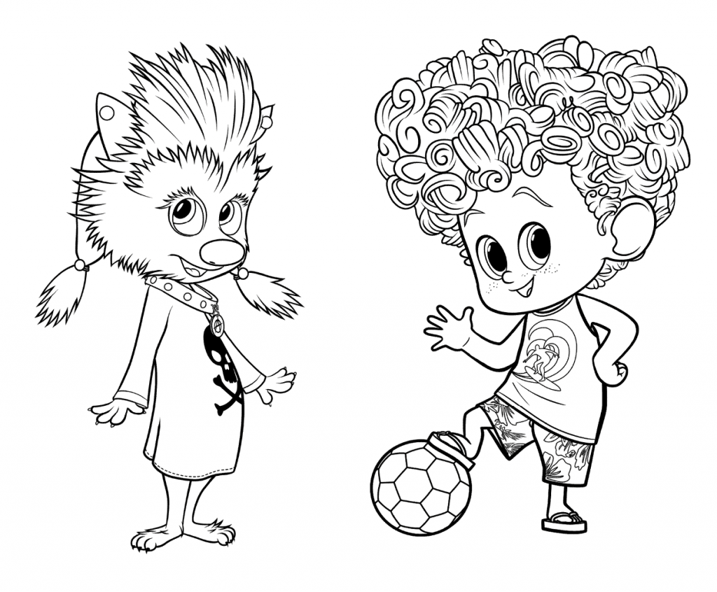 Hotel Transylvania Coloring Pages Winnie and Dennis