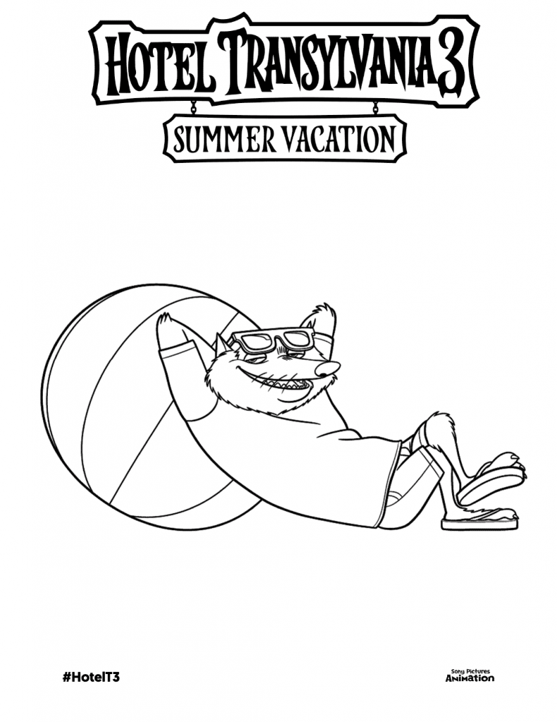 Hotel Transylvania Summer Vacation Coloring Pages
