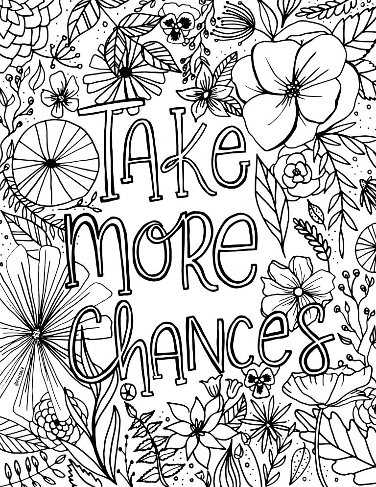Inspirational Floral Coloring Pages For Adults