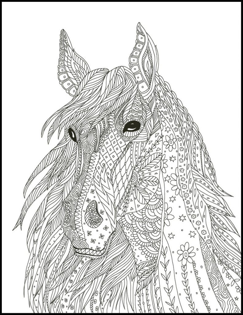 Intricate Horse Coloring Pages for Adults