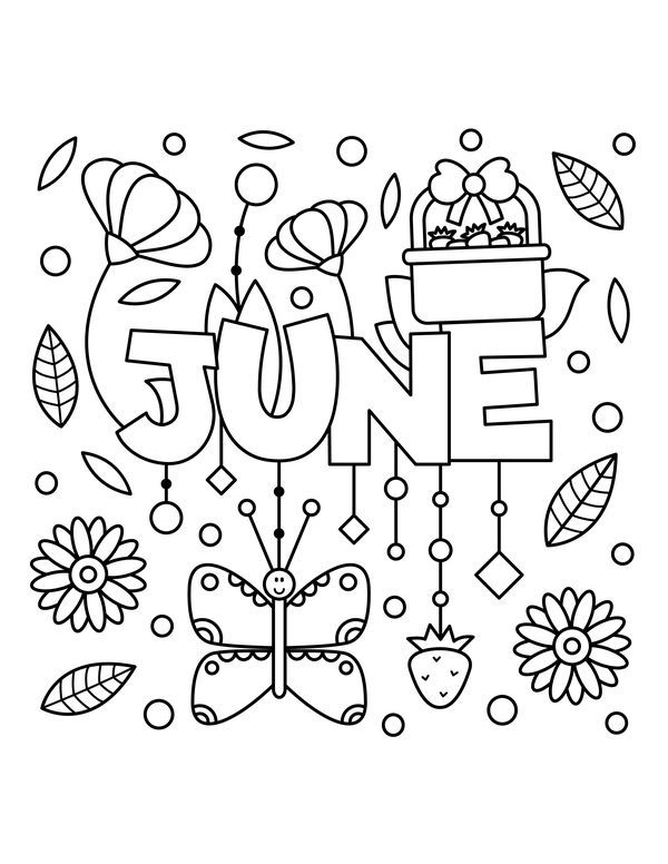 June Coloring Pages