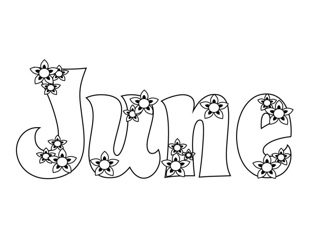 June Flowers Coloring Pages