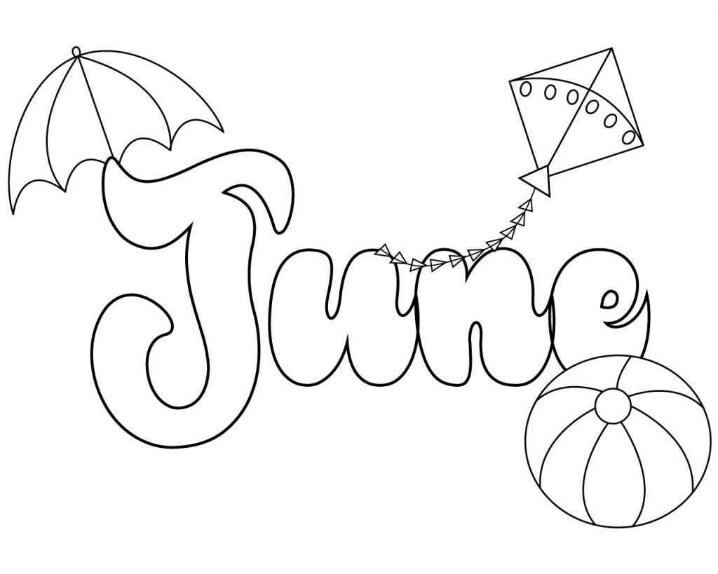 June Printable Coloring Pages