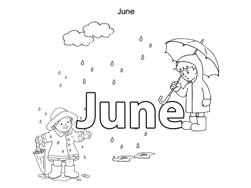 June Rain Coloring Pages