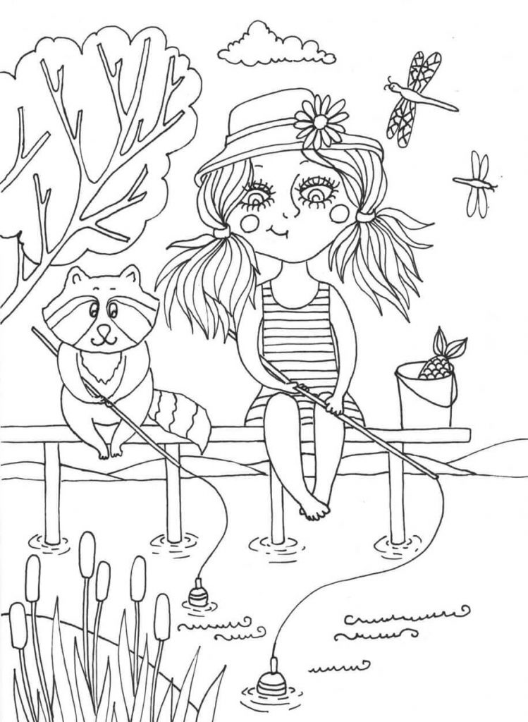 June Summer Coloring Pages