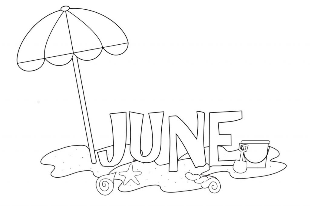 June at the Beach Coloring Pages